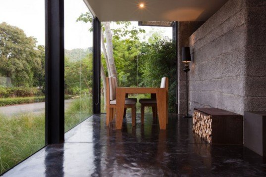Sustainable Building,Green Resources,Green Materials,Botanical,Architecture,thailand,Kao Yai National Park,local stone,bamboo,showroom,thai elephants rescue center,skylight,floor to ceiling windows