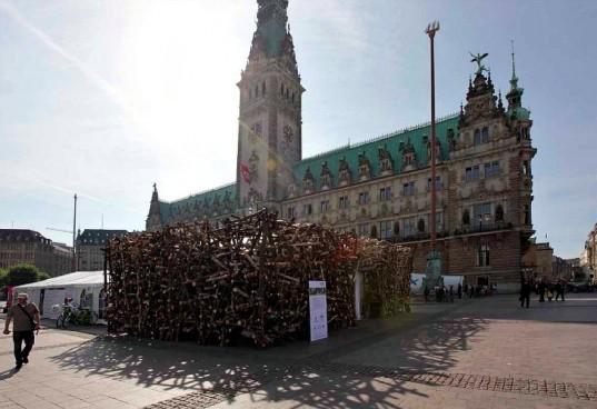 Zero Emission Pavilion, partnerundpartner, hamburg climate week, hamburg, wood pavilion, temporary pavilion