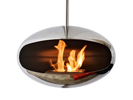 cocoon fireplaces, energy efficient fires, environmentally friendly fires, green fires, italian fire design, modern fires, steel fires, green fireplaces, eco-friendly fireplace
