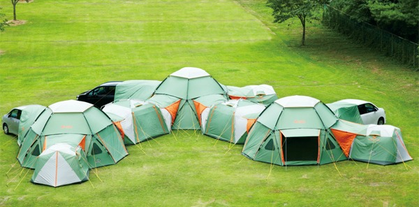 Modular POD tents connect to create multi-room c&ing getaways for family and friends | Inhabitat - Green Design Innovation Architecture Green Building & Modular POD tents connect to create multi-room camping getaways ...