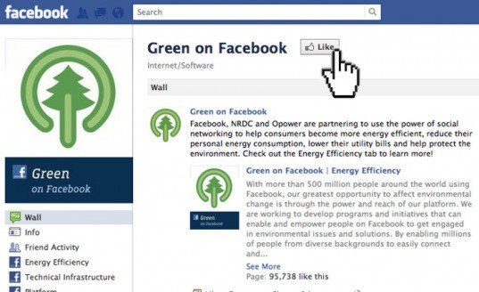 green design, eco design, sustainable design, Facebook, Opower, National Resources Defense Council, NRDC, energy consumption app, Facebook Green