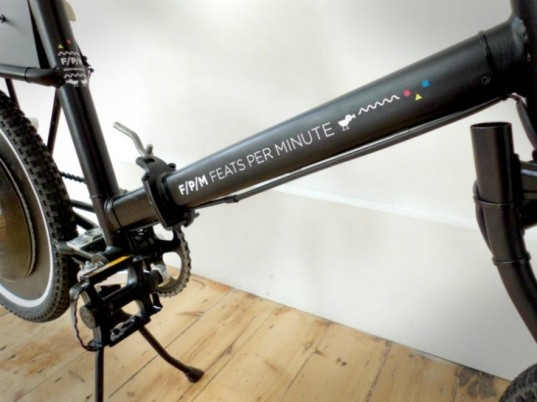 Feats per minute, dutch bikes, dutch art collaboration, Merel Sloother, Liat Azulay, Pieter Frank de Jong, record playing bike, musical bicycle, dezeen bike, green bike design