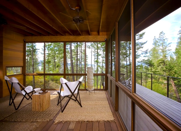 Gorgeous flathead lake cabin is a minimalist home for the for Minimalist cabin design