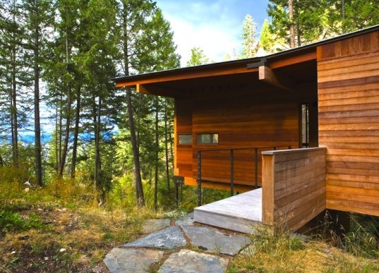 Minimalist Lake House: Gorgeous Flathead Lake Cabin Is A Minimalist Home For The