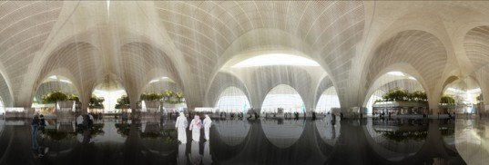 kuwait international airport, kuwait, foster and partners, green design, eco-design, green architecture, solar panels, green airports, leed gold, leed gold building, leed gold airport, kuwait green building, kuwait architecture