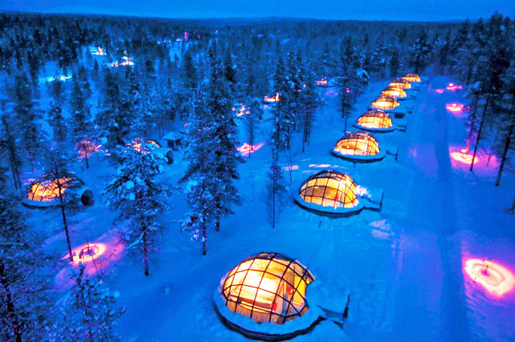 1136e8217ece Thermal Glass Igloos Offer Views of the Northern Lights at Finland s Hotel  Kakslauttanen