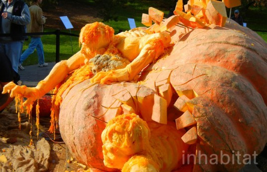 Ray Villafane, World's Largest Pumpkin Carving, new york botanical garden, world's largest pumpkin, pumpkin carvings, pumpkin art,