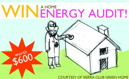 SCGH, energy audit, free energy audit, sierra club green home, green contest, green giveaway, giveaway, free stuff, green home, renewable energy, energy saving, sierra club, National Energy Awareness Month
