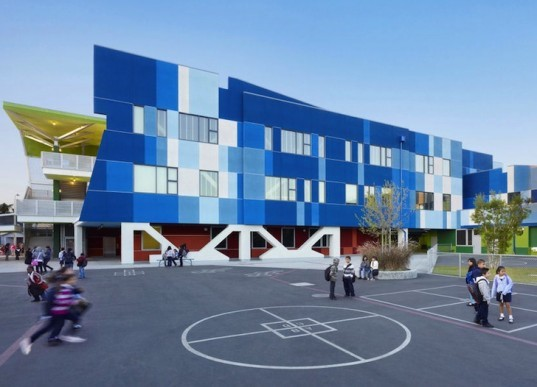 DLR, DLR Group, Los Angeles, California, LA Unified School District, South Region Elementary School Number 2, The Rainbow School, Collaborative for High Performance Schools, CHPS, energy efficiency, resource efficiency, color, creativity, daylighting