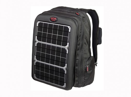 green portable power, Recycled Materials, Solar Backpack, solar ipad charger, solar laptop charger, solar pack, Voltaic power pack