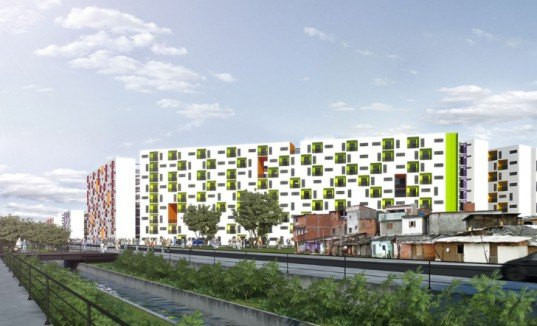 green design, eco design, sustainable design, Sao Paulo, housing project, city revitalization, linear park, reconfigure roadway