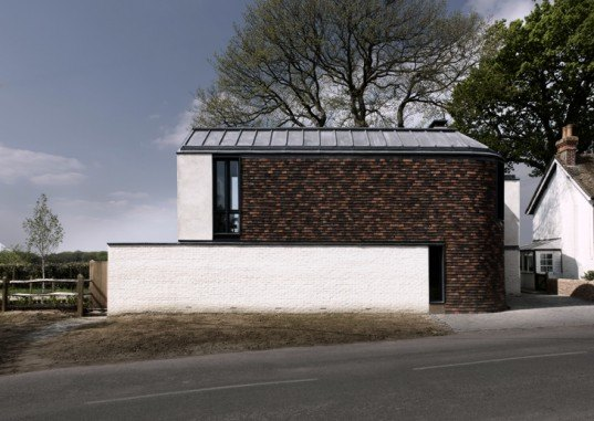green design, eco design, sustainable design, Adam Richards architects, Recycled clay tiles, geothermal energy, geothermic pump, rainwater harvesting, Sussex, England, Mission Hall
