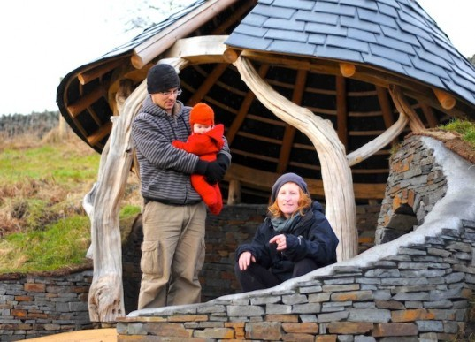 Groesfaen, Wales, Caradoc, Caradoc's Hideout, recycled materials, renewable materials, green design, sustainable design, eco-design, Jenny Hall, Crafted Space, sustainable development, recycled rubber tiles, local stone, Celtic mythology