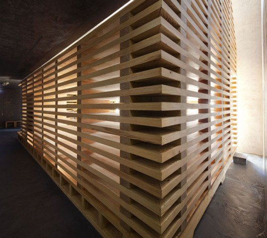 Modular Wooden Tree Of Life Chapel Features Slatted Walls