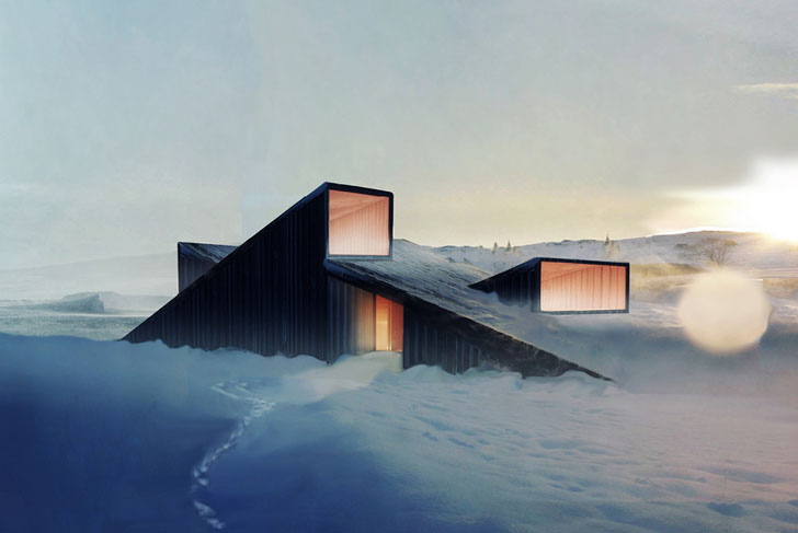 Fantastic norway 39 s mountain hill cabin is part ski slope Mountain architecture