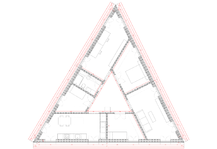 Triangle shaped house design majestic design ideas House plans for triangular lots