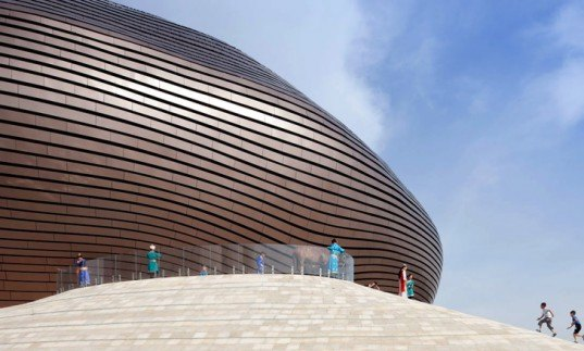 green design, eco design, sustainable design, MAD Architects, Ordos Museum, Inner Mongolia, Louver System, passive heating, solar gain, Manhattan Dome, Gobi Desert