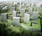 Nine Dragons Housing Complex is a Green-Roofed Residential Maze in China