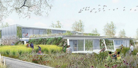 green design, eco design, sustainable design, Off Architecture, Green roof, housing complex, Anglet, France, Duncan Lewis SCape Architecture, tiered green roof