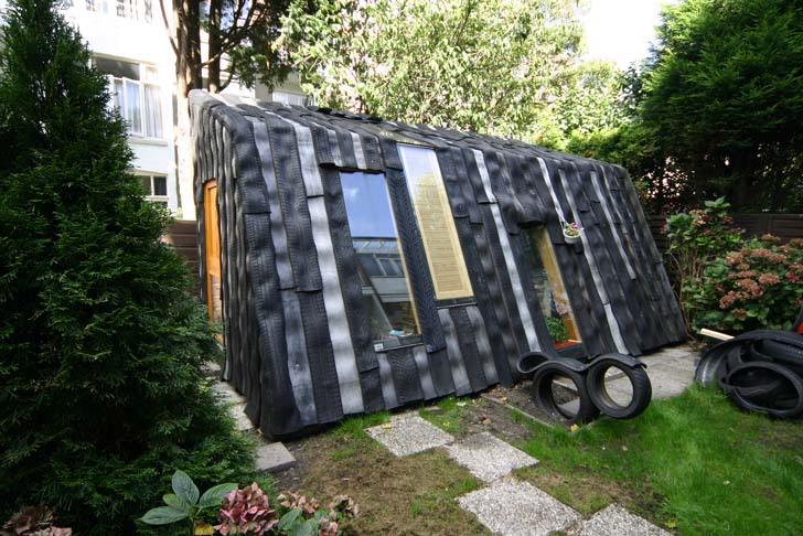 Maisongomme A Funky Garden Office and Shed Made from Recycled Car