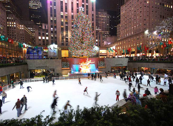 when does the christmas tree go up in nyc
