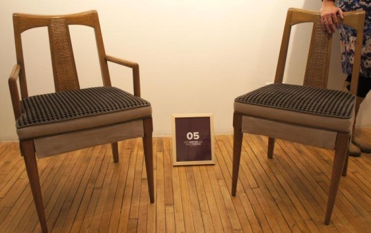 furniture design, reusing, reclaimed materials, vintage chairs, chairs for charity, better homes and garden, green charity events, green design events, recycled furniture