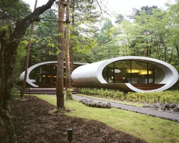 Green Resources,Green Materials,Green Lighting,green Interiors,energy efficiency,Architecture,japan,locally sourced wood,fir tree,long-lasting concrete,japanese forest
