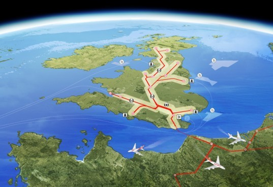 Thames Hub, Foster and Partners, uk, energy infrastructure, green transportation, renewable energy, high speed rail