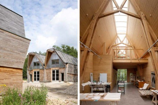 Sustainable Building,Green Resources,Green Materials,energy efficiency,Architecture,woodland,british wood,locally sourced wood,sustainable heating system,wood-fired boiler,sustainably constructed workspace,
