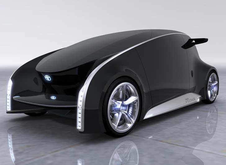 Toyotas New ColorChanging FunVii Car Is A Social Network On - Cool fun cars