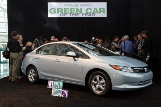 Green Car of the Year, Honda, Natural Gas Civic, LA Auto Show, Los Angeles Auto Show, alternative fuel, fuel efficiency, natural gas,