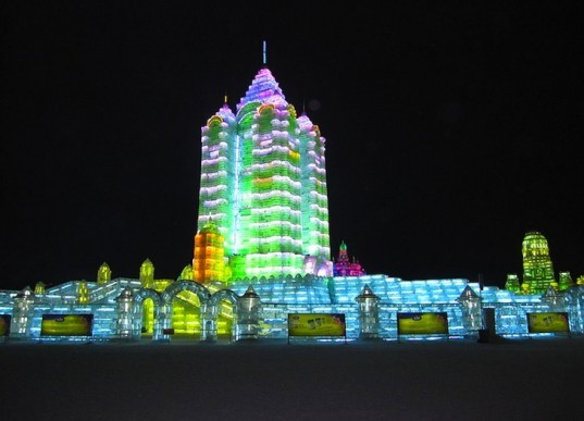 China, Harbin, Ice Sculpture, Snow Sculpture, winter recreation, temporary art, green design, sustainable design, eco design, songhua river, siberia, wind,