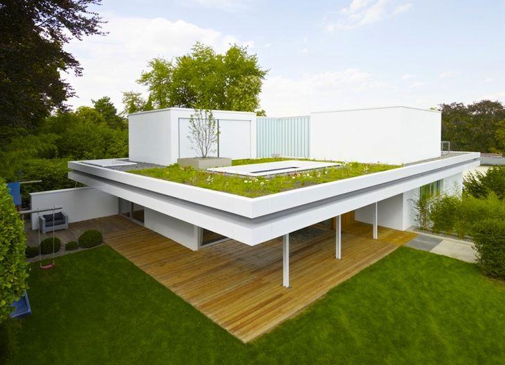 3 Rooms Trees And A Meadow Adorn The Roof Of House S In Germany