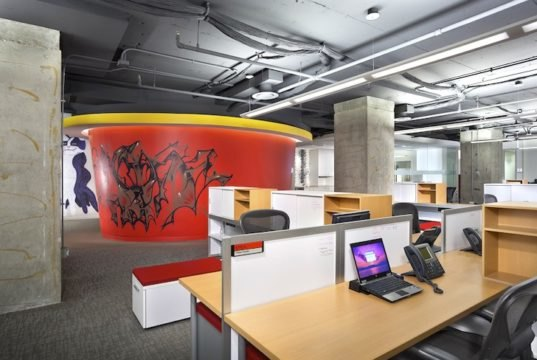 Digitas decks out its inspiring chicago office with for Salvaged building materials los angeles