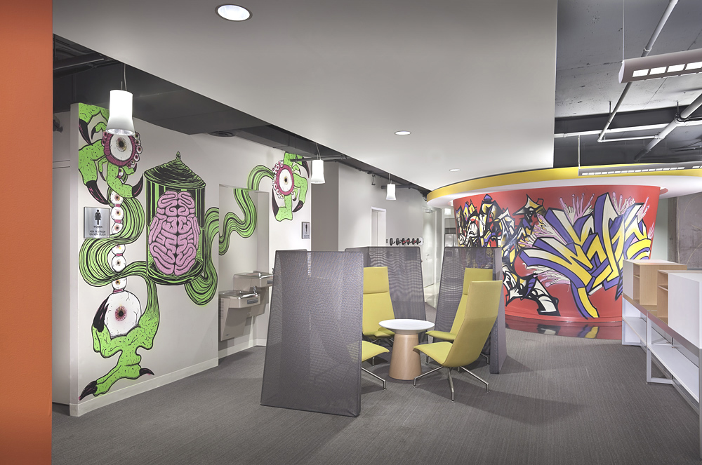 Digitas Decks Out Its Inspiring Chicago Office With Salvaged Factory Materials And Urban Graffiti