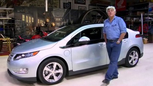 Chevrolet Volt, electric vehicle, Jay Leno, Nissan Leaf, green transportation, energy efficient vehicle