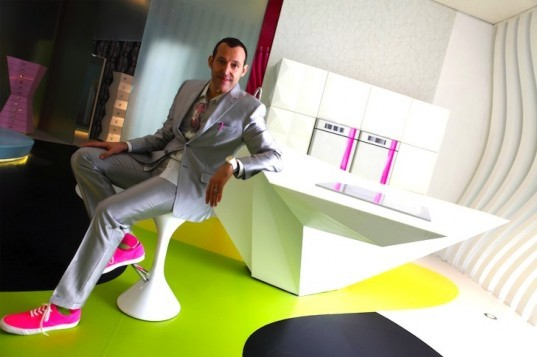 Karim Rashid, Komb House, Egypt, Cairo, LED, daylighting, wind power, solar power, solar heated water, radiant flooring, greywater recycling, rainwater harvesting, green design, sustainable design, eco-design, green building, Islamic design, contemporary design, skylight