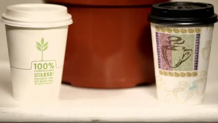 plant based repurpose compostables coffee cups hit store shelves