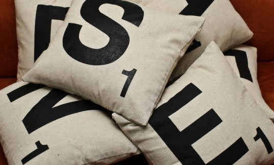 scrabble pillow, green gifts for the home, home gifts, gifts for the kitchen, gifts for interiors, green decor gifts, green housewares gifts, green holiday, green gift guide, green holiday gift guide, eco holiday, green xmas, green christmas, eco xmas, eco christmas, environmentally friendly gifts, eco friendly gifts, green presents, environmentally friendly presents, eco friendly presents, green home gifts