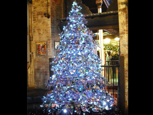 Top 10 Crazy Christmas Trees Made From Bottles, Bikes
