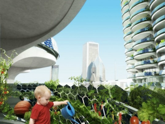 Algae Green Loop, Influx_Studio, carbon scrubbing, chicago, marina city towers, algae bioreactor, sustainable renovation