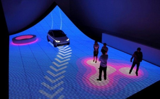 Audi and BIG, Art Basel audi, BIG Audi, Future urban street, green street, LED street, Smart transportation, A2 electric car, Audi A2, eco street, pedestrian street of the future,Electric Audi A2 car,