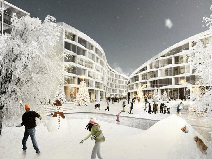 Koutalaki ski village big architects unveils a luxurious for Ski designhotel