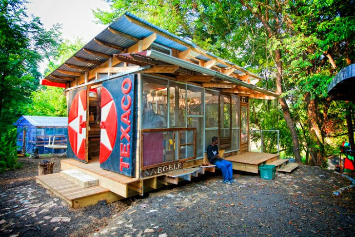Garden Sheds From Recycled Materials discarded materials | inhabitat - green design, innovation
