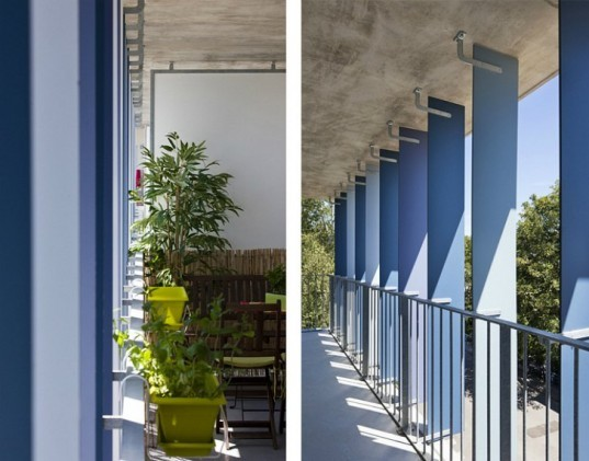 CHL Social Housing, Atelier O-S, social housing, france, louvers, solar passive design, affordable housing