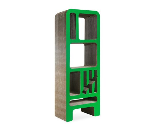 Reinhard Dienes, cardboard furniture, cardboard design enthusiast, Dickens bookshelves, recyclable cardboard, green furniture, eco furniture, green design, eco bookshelf