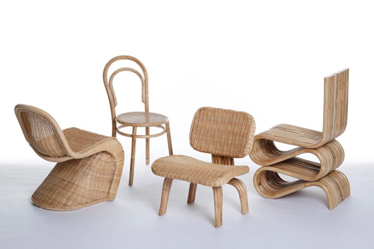 Bamboo design furniture Modern Made In China Émilie Voirin Reinterprets Iconic Chairs In Biodegradable Bamboo And Rattan Best Of Interior Design And Architecture Made In China Émilie Voirin Reinterprets Iconic Chairs In