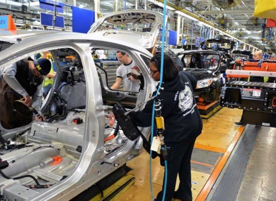 First ford focus electric vehicles roll off production for Ford motor company wayne mi