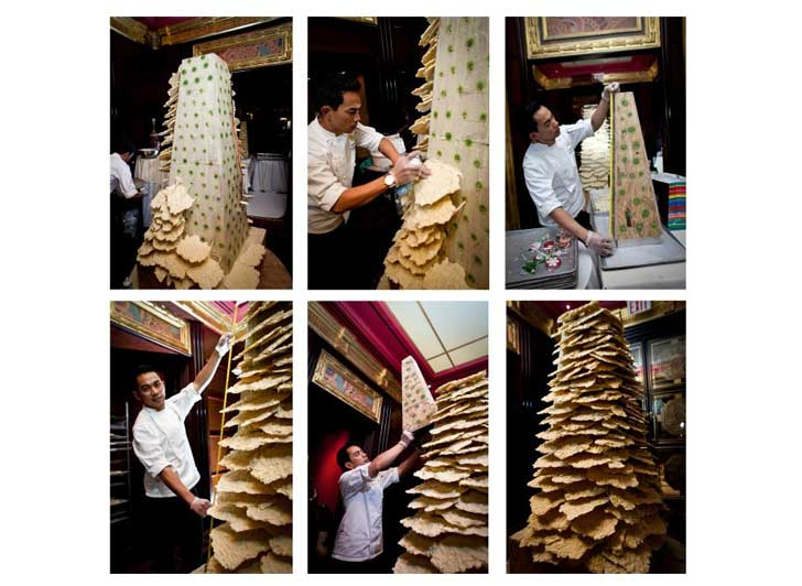 The Jumeirah Essex House Erects a 10 ft. Tall Chocolate Christmas ...