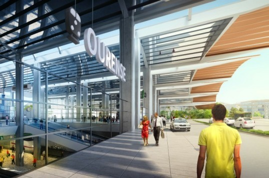 Ourense Station, Foster and Partners, spain, high speed rail, high speed rail station, green transportation, sustainable architecture